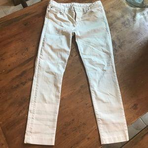 GAP 1969 White Skinny Jeans